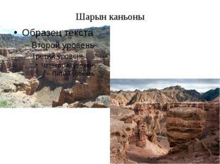 Шарын каньоны