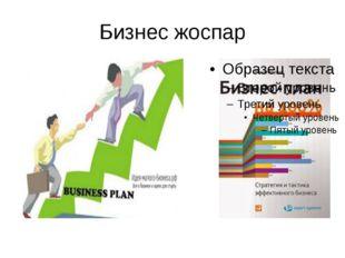 Бизнес жоспар