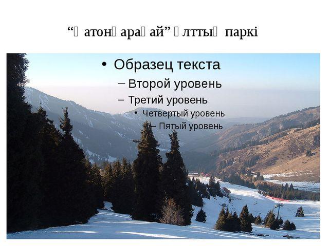 """""""Қатонқарағай"""" ұлттық паркі"""