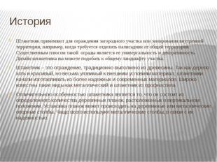 История Штакетник применяют для ограждения загородного участка или зонировани