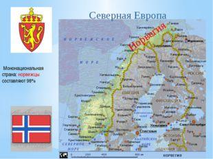 Норвегия Мононациональная страна: норвежцы составляют 98% Северная Европа