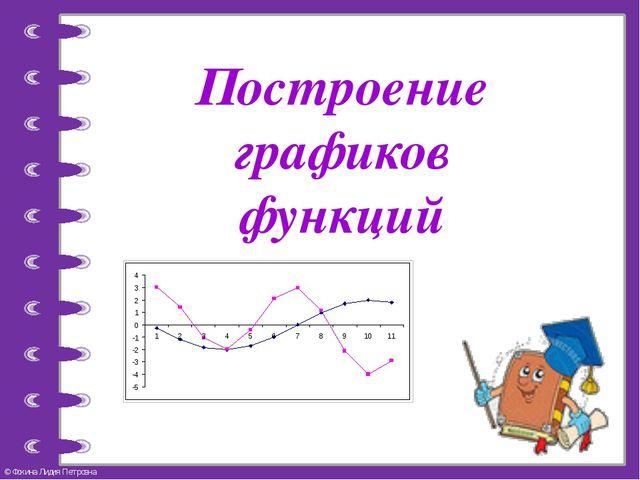 Построение графиков функций © Фокина Лидия Петровна