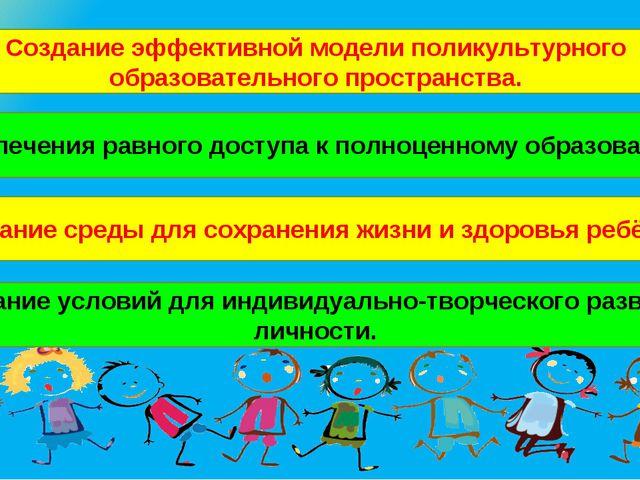 Создание эффективной модели поликультурного образовательного пространства. Об...