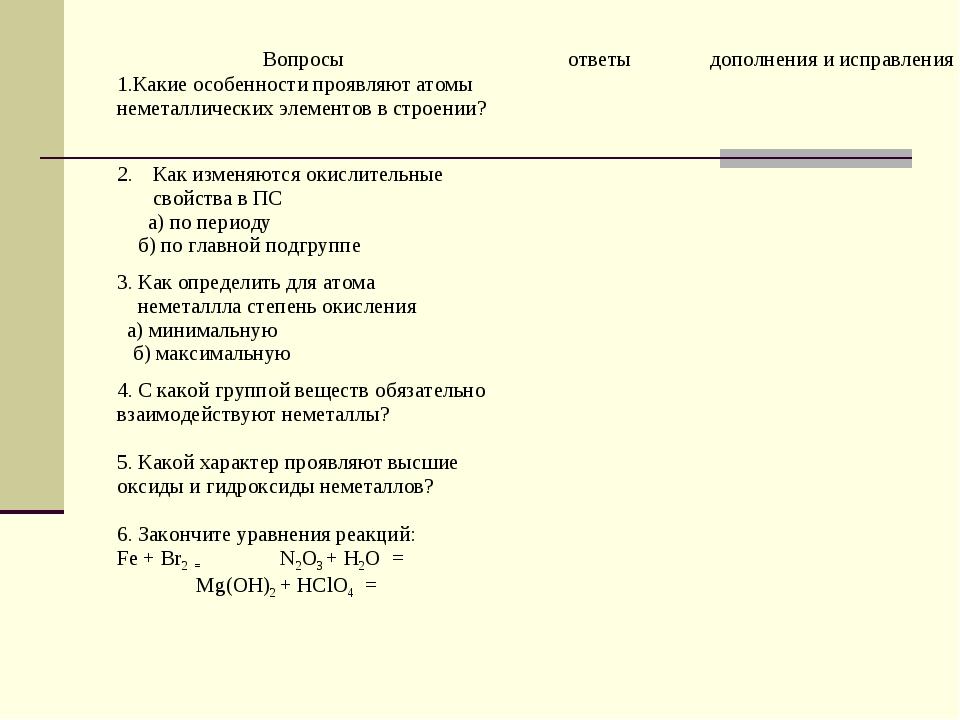 Вопросыответыдополнения и исправления 1.Какие особенности проявляют атомы н...