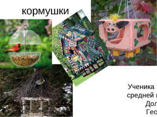 кормушки Ученика 3б класса средней школы №2 Долгова Георгия Руководитель- Гур