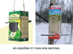 из коробки от сока или молока.
