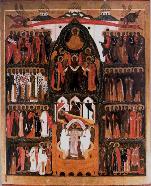 Покров Богоматери. Из Горицкого монастыря. Третья четверть XVI в. Череповецкое музейное объединение