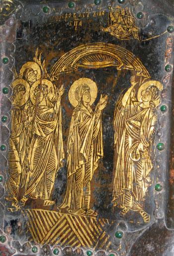 Пластина церковных врат Рождественского собора в Суздале. Начало XVIII в.