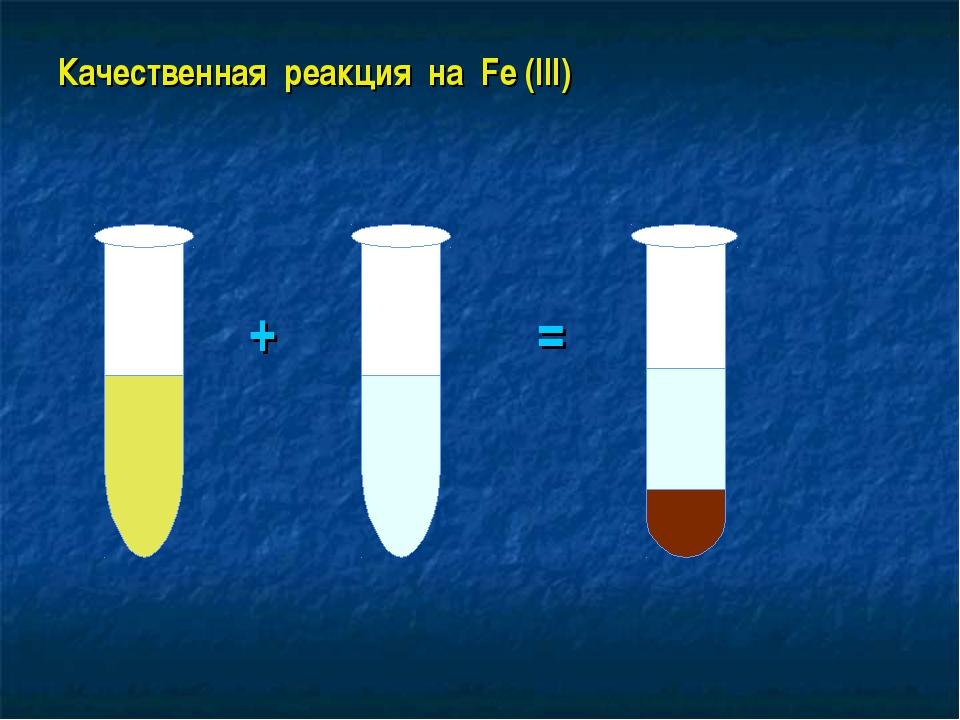 Качественная реакция на Fe (III) +=