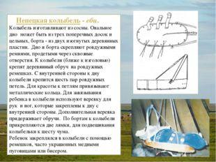 Ненецкая колыбель-ебц. Колыбель изготавливают из сосны. Овальное дно м