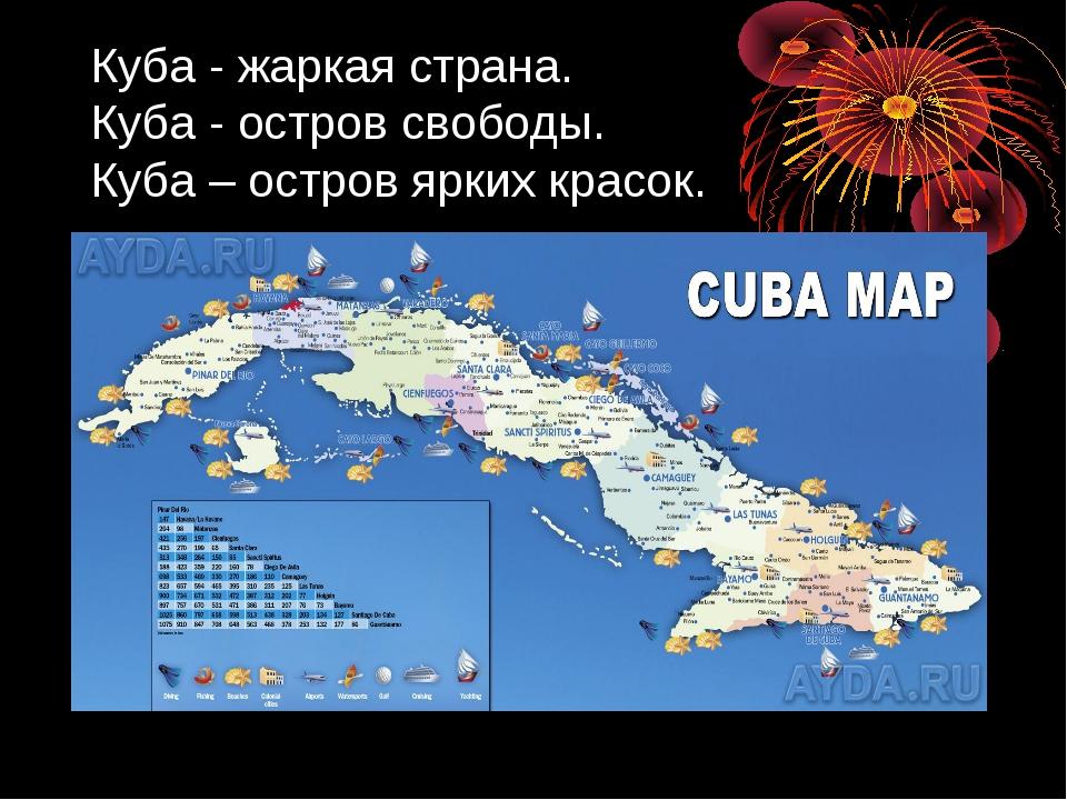 Куба - жаркая страна. Куба - остров свободы. Куба – остров ярких красок.
