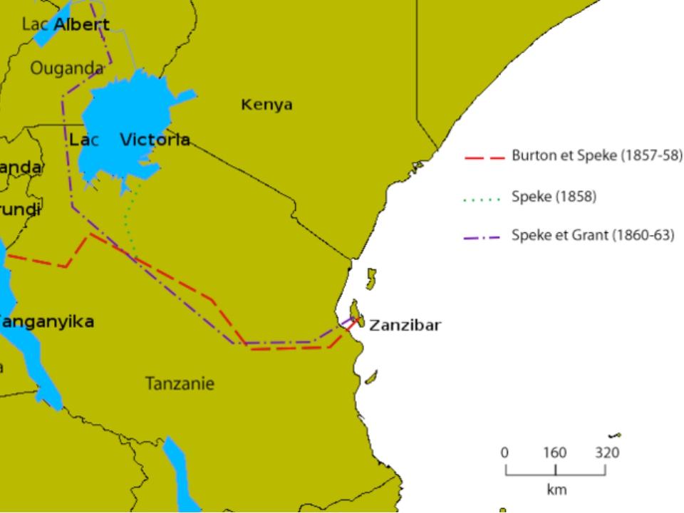 Исследователь Африки, который в 1858 году обнаружил озера Танганьика и Викто...