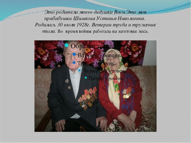 Это родители моего дедушки Васи.Это моя прабабушка Шишкова Устинья Николаевн...