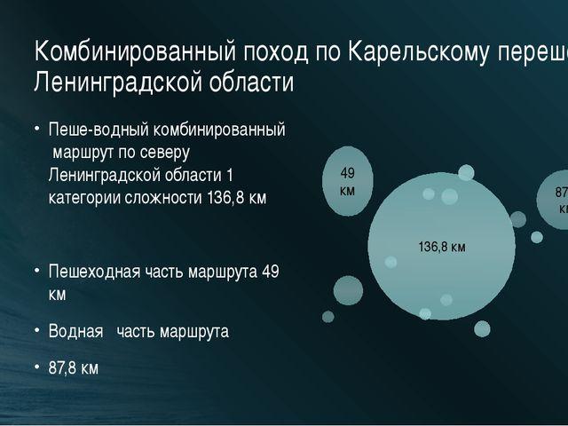 Комбинированный поход по Карельскому перешейку Ленинградской области Пеше-вод...