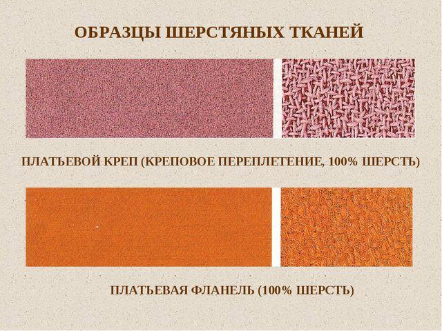 ОБРАЗЦЫ ШЕРСТЯНЫХ ТКАНЕЙ ПЛАТЬЕВОЙ КРЕП (КРЕПОВОЕ ПЕРЕПЛЕТЕНИЕ, 100% ШЕРСТЬ)...