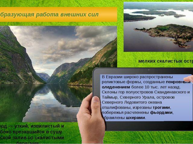 В Евразии широко распространены реликтовые формы, созданные покровным оледене...