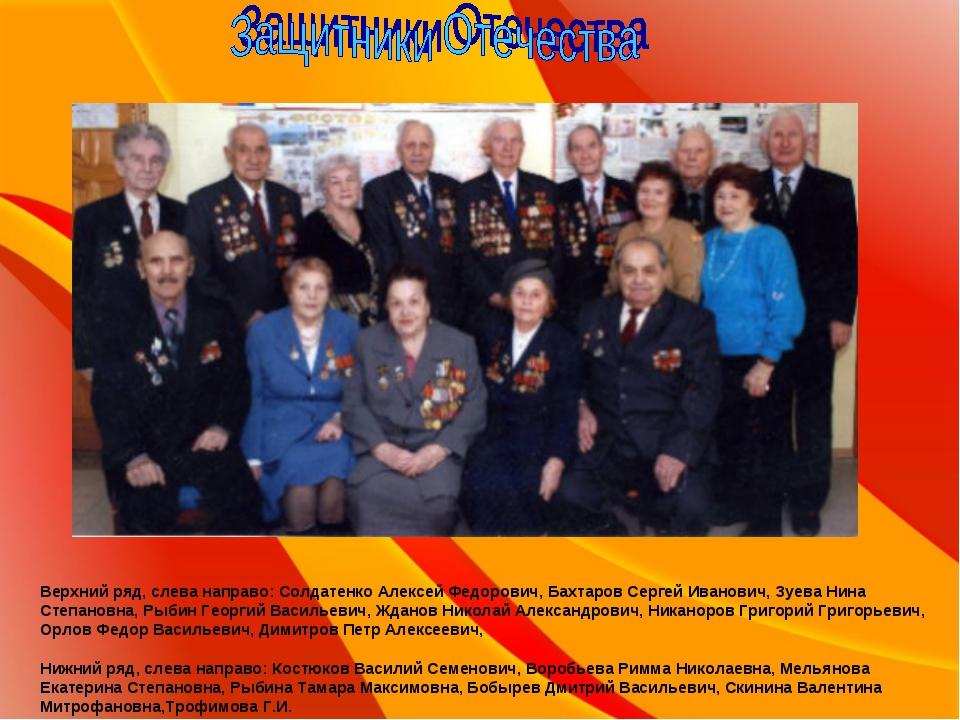 Верхний ряд, слева направо: Солдатенко Алексей Федорович, Бахтаров Сергей Ив...
