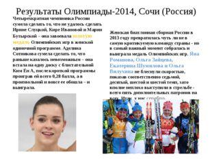 Результаты Олимпиады-2014, Сочи (Россия) Четырехкратная чемпионка России суме