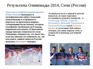 Результаты Олимпиады-2014, Сочи (Россия) Трио Ольга Граф-Екатерина Шихова-Юли
