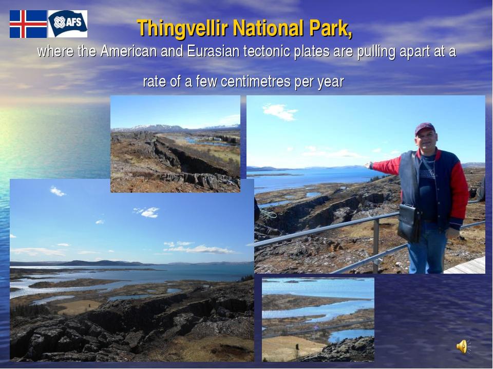 Thingvellir National Park, where the American and Eurasian tectonic plates ar...