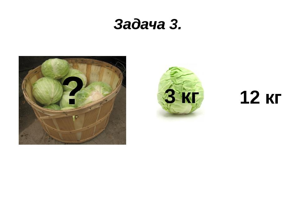 Задача 3. + 3 кг = 12 кг ?