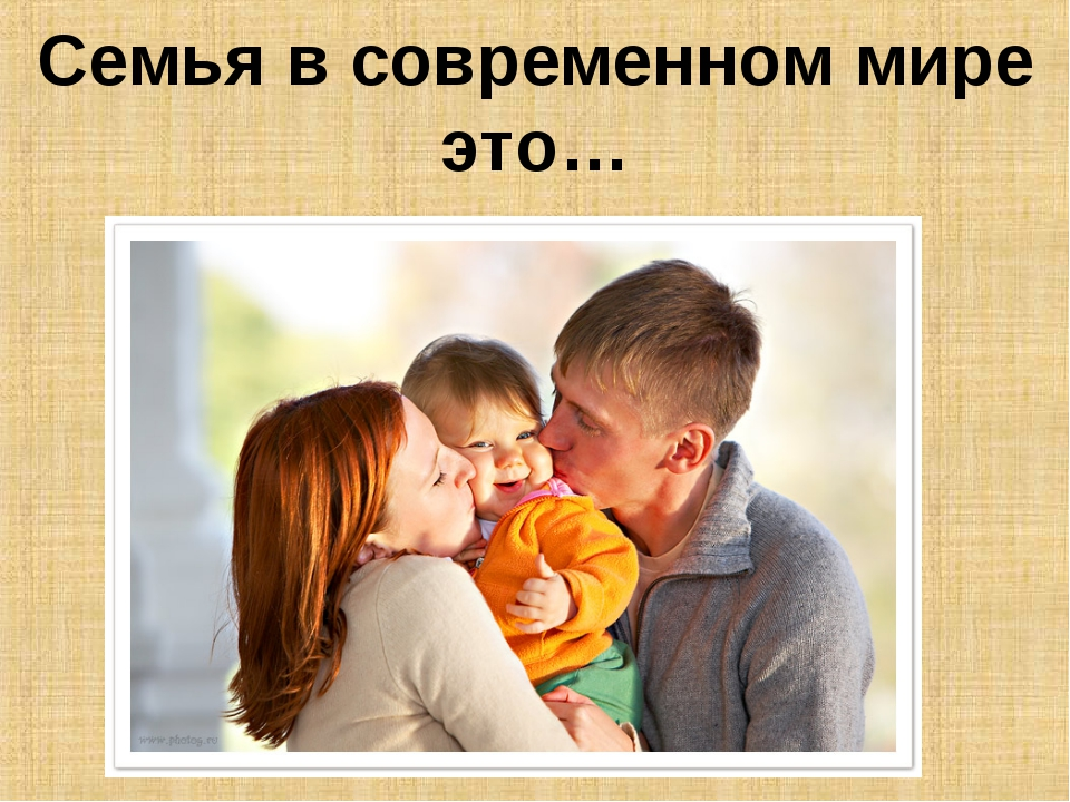 Семья в современном мире это…