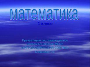 1 класс Презентацию составила учитель начальных классов МБОУ «ЗАПАДНОДВИНСКА