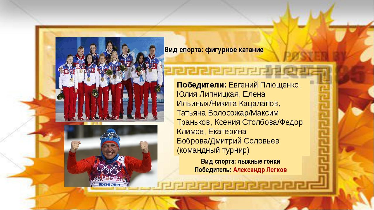 Победители:Евгений Плющенко, Юлия Липницкая, Елена Ильиных/Никита Кацалапов...