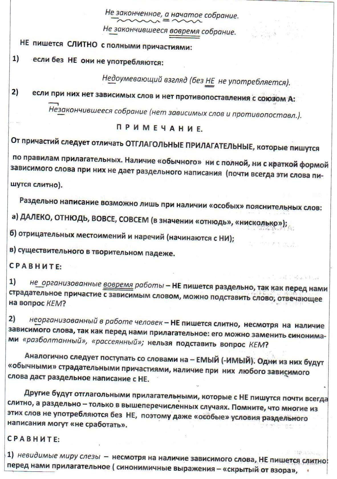 Все правила про орфограммы по русскому за 7 класс