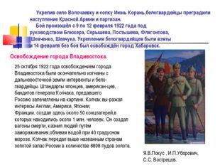 Укрепив село Волочаевку и сопку Июнь Корань,белогвардейцы преградили наступл
