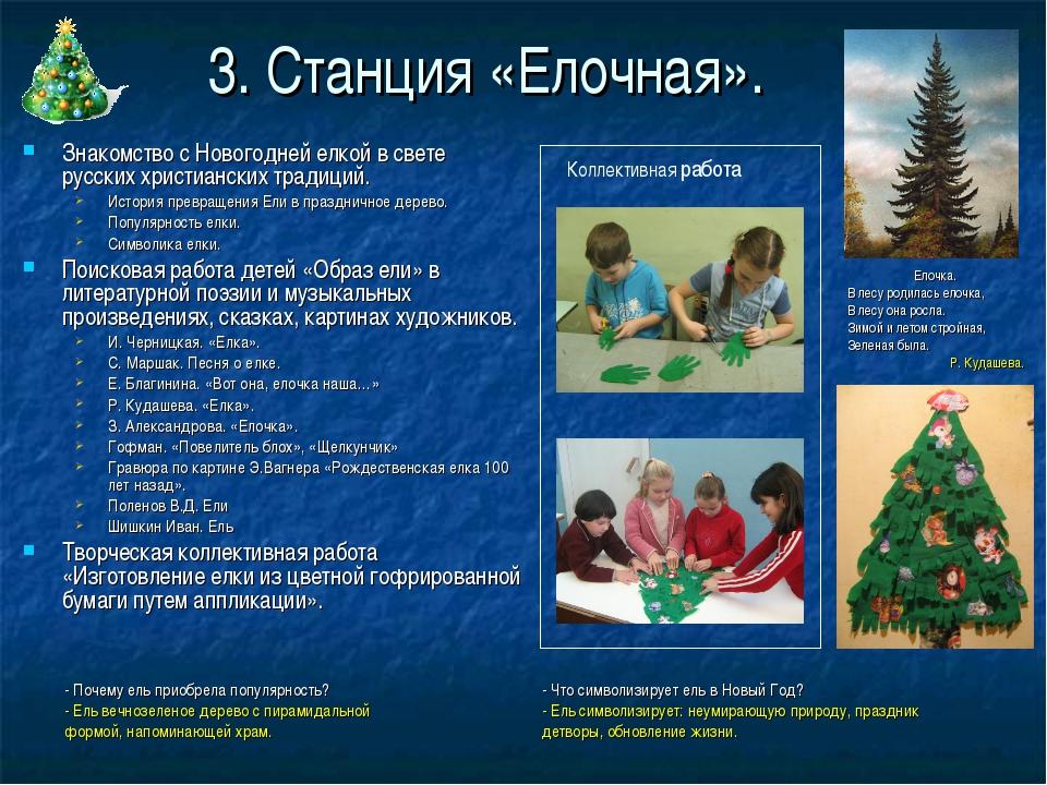 3. Станция «Елочная». Знакомство с Новогодней елкой в свете русских христианс...