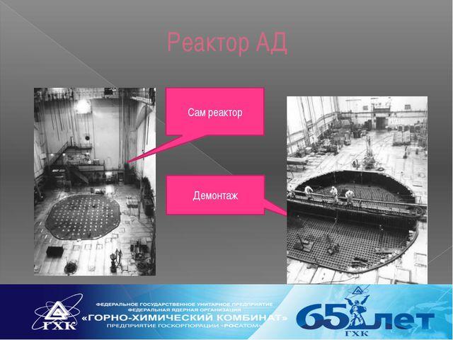 Реактор АД Демонтаж Сам реактор