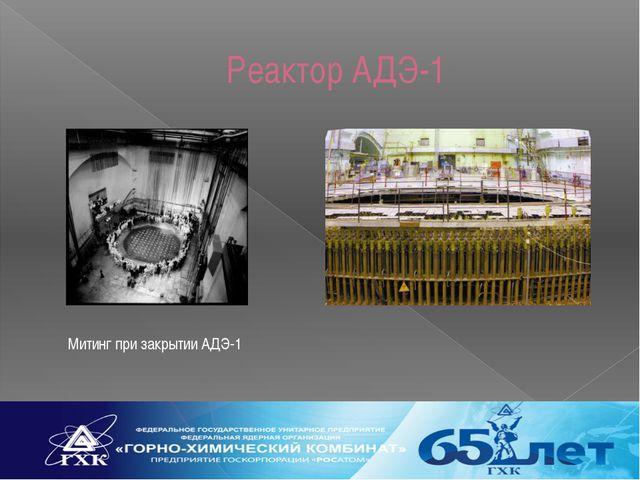 Реактор АДЭ-1 Митинг при закрытии АДЭ-1