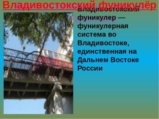 Достопримечательности владивостока Владивостокский фуникулер — фуникулерная с