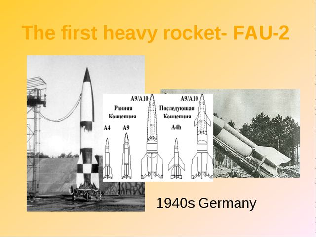 The first heavy rocket- FAU-2 1940s Germany