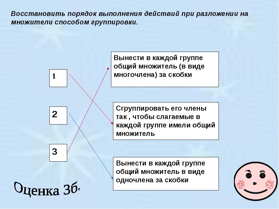 1 2 3 Вынести в каждой группе общий множитель (в виде многочлена) за скобки С...