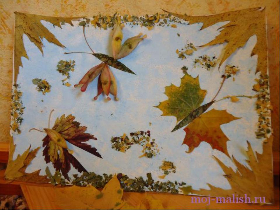 Коллаж своими руками листья