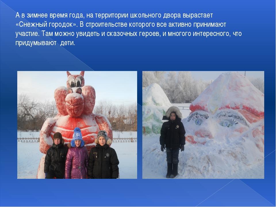 А в зимнее время года, на территории школьного двора вырастает «Снежный город...
