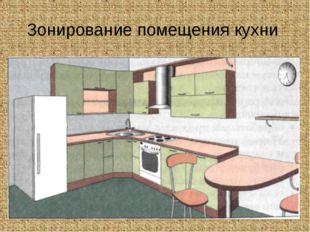 Зонирование помещения кухни