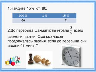 100 % 1 %15 % 80?