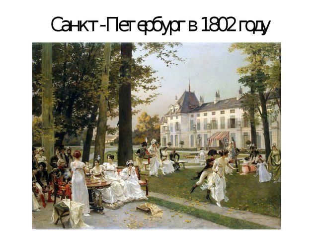 Санкт-Петербург в 1802 году