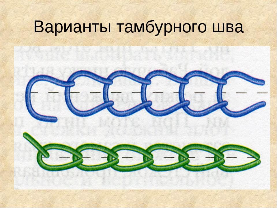 Варианты тамбурного шва