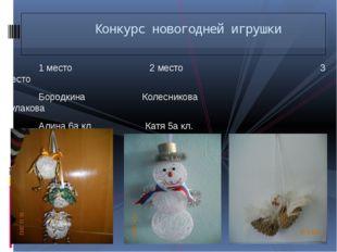 1 место 2 место 3 место Бородкина Колесникова Кулакова Алина 6а кл. Катя 5а