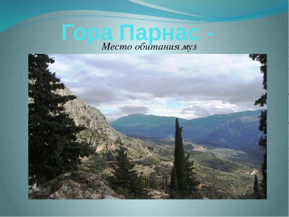 Гора Парнас - Место обитания муз