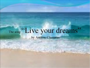 "The song ""Live your dreams"" by Antoine Clamaran"