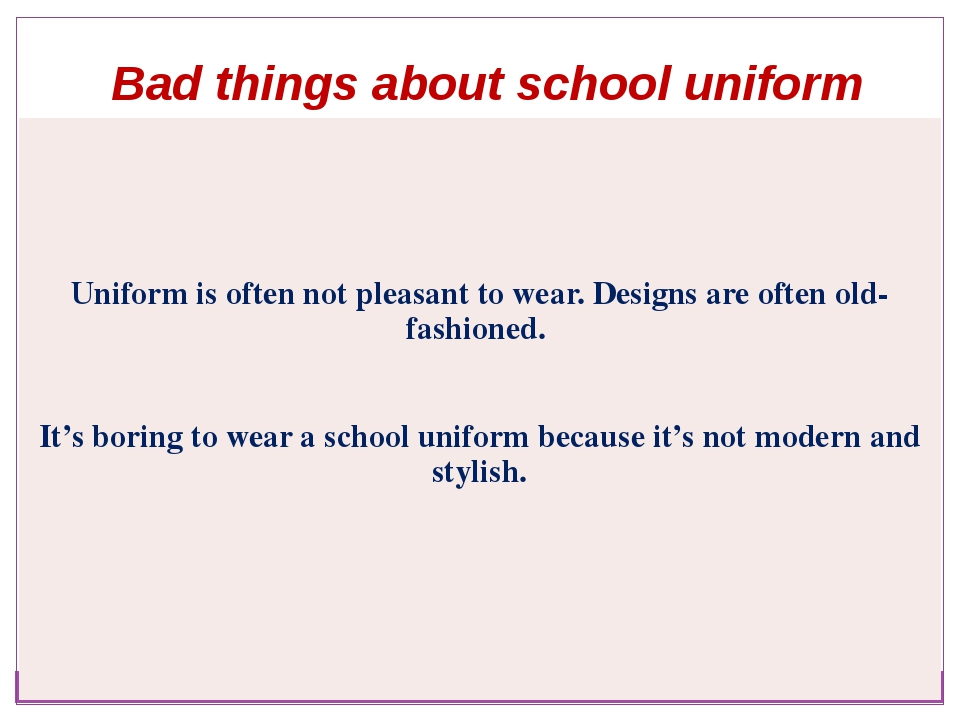 essay about school uniforms are bad