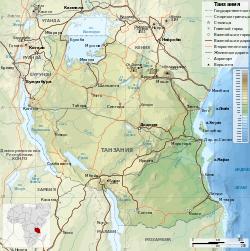 Tanzania map-ru.svg