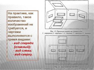 На практике, как правило, такое количество изображений не требуется, и чертеж