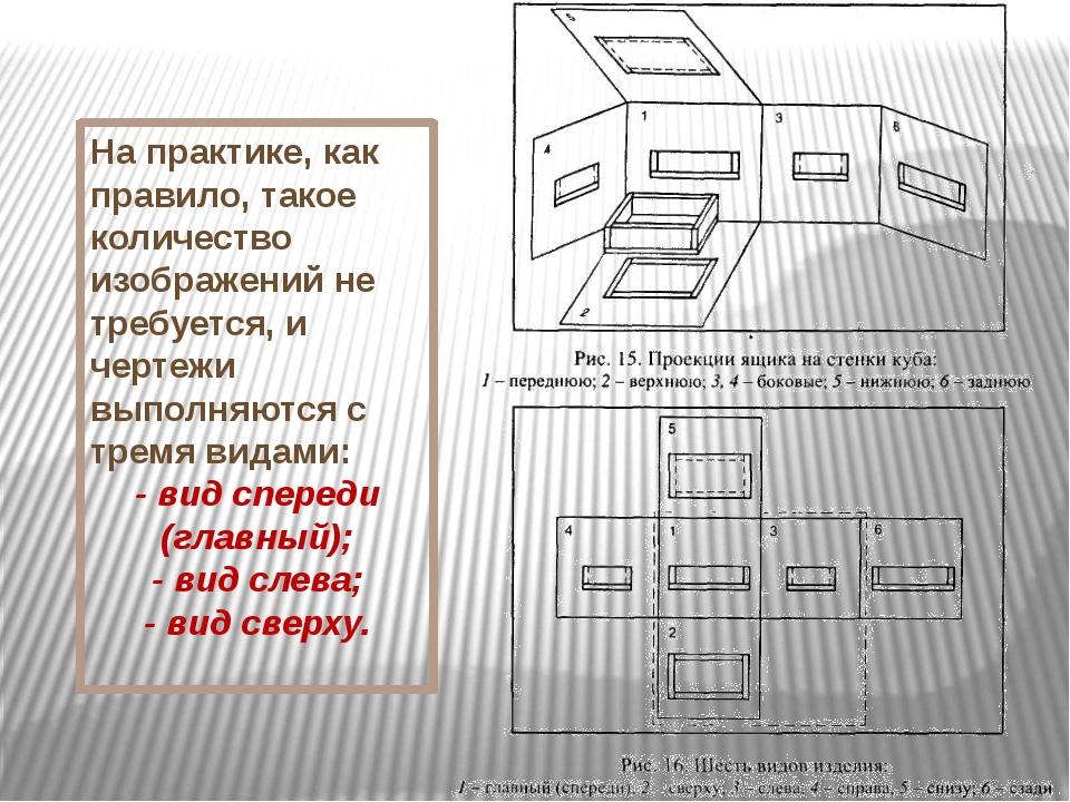 На практике, как правило, такое количество изображений не требуется, и чертеж...