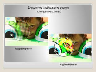 Дискретное изображение состоит из отдельных точек лазерный принтер струйный п